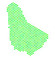 green honeycomb barbados map vector image vector image