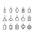 hanging lamp line icon vector image vector image