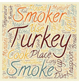 How to smoke a turkey text background wordcloud vector image vector image