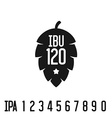 ibu index logo hop pine black silhouette vector image vector image