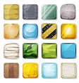 icons and buttons set for mobile app and game ui vector image vector image