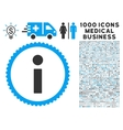 Info Icon with 1000 Medical Business Pictograms vector image vector image