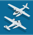 isometric plane hydro aircraft air transportation vector image vector image