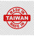 made in taiwan red stamp on isolated background vector image vector image