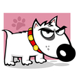 Mean White Bull Terrier Doggy vector image vector image
