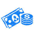 money cash grunge icon vector image vector image