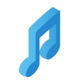 Music note isometric 3d icon vector image vector image