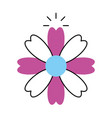 natural flower spa icon vector image vector image