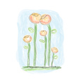 painted flowers in watercolor style vector image vector image