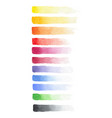 painted watercolor set of fading brush strokes vector image