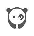 panda logo graphic abstract vector image