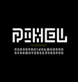 pixel art style font design vector image