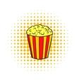 Popcorn comics icon vector image vector image