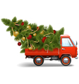 Red Christmas Truck vector image