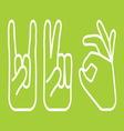 ruke jednostavne4 resize vector image vector image