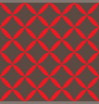 seamless abstract grid gray red pattern vector image vector image