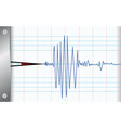 seismometer vector image vector image