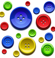 Sewing color buttons vector image