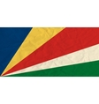 Seychelles paper flag vector image