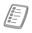 shop list icon doodle hand drawn or outline icon vector image vector image