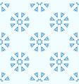 snowflakes seamless geometric pattern vector image
