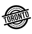 toronto rubber stamp vector image vector image