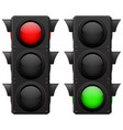 traffic lights red green vector image