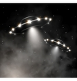 UFO in fog vector image vector image