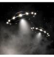 UFO in fog vector image