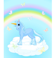 unicorn on sky vector image