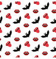vampire mouth and bat vector image vector image