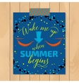 Vintage summer typography background with vector image vector image