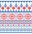 winter christmas fair isle style traditional knit vector image