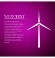 Wind generator flat icon on purple background vector image