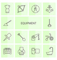 14 equipment icons vector image vector image