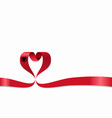 albanian flag heart-shaped ribbon vector image
