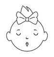 baby girl avatar character vector image vector image