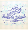 back to school banner doodle background school vector image vector image
