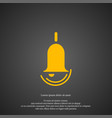 bell icon simple ring element symbol design from vector image