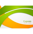 Bright corporate card design vector image