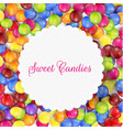 candy frame background vector image vector image