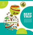 cartoon summer travel colorful template vector image vector image