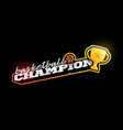 champion basketball logo modern professional vector image vector image