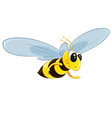 character bee fly vector image
