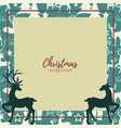 christmas elements background vector image vector image