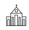 church line icon sign on vector image vector image