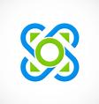 circle decorative connection logo vector image