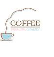 Coffee logo premium quality retro design vector image