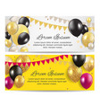 color glossy balloons birthday party card vector image vector image