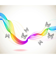Colorful abstract background with butterfly and vector image vector image